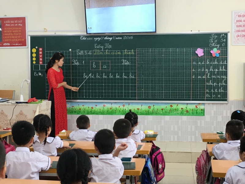 Cô giáo em trong giờ Tập đọc