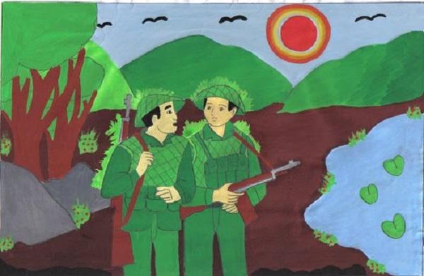 Bài văn phân tích hình tượng người lính số 9