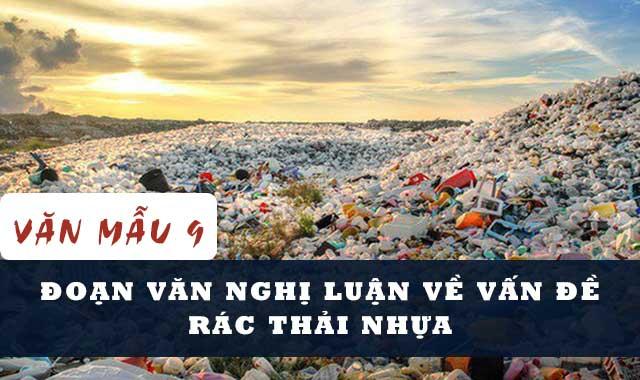 Bài văn nghị luận về vấn đề rác thải nhựa số 1