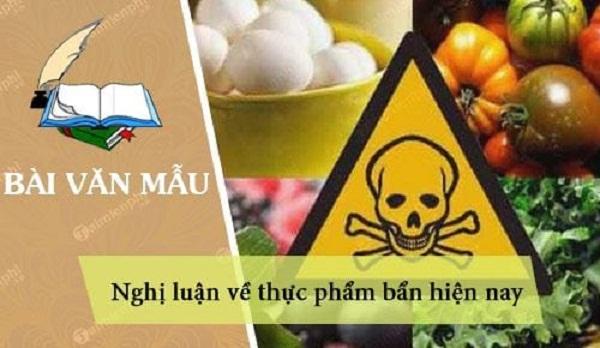 Bài văn nghị luận xã hội về thực phẩm bẩn hiện nay số 7