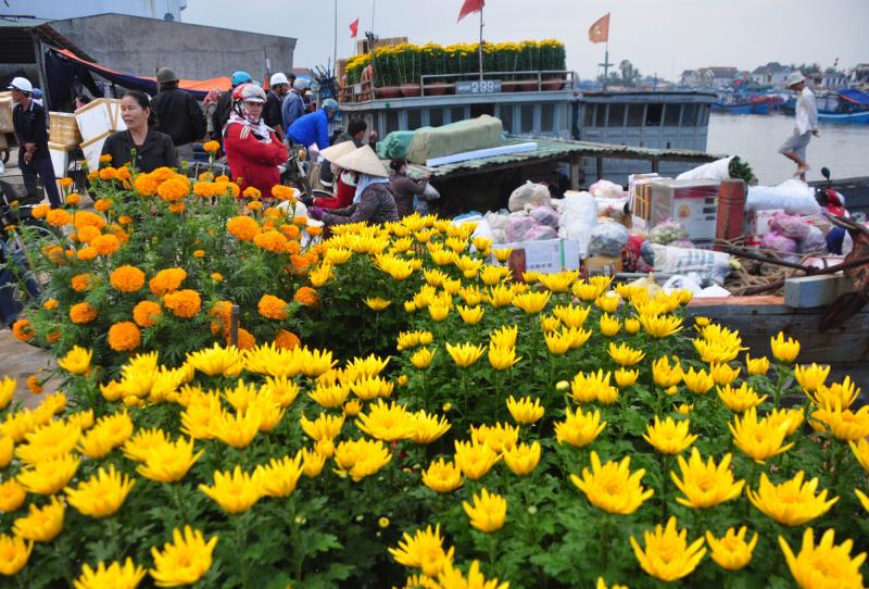 Bài văn tả cảnh chợ hoa ngày tết quê em số 8